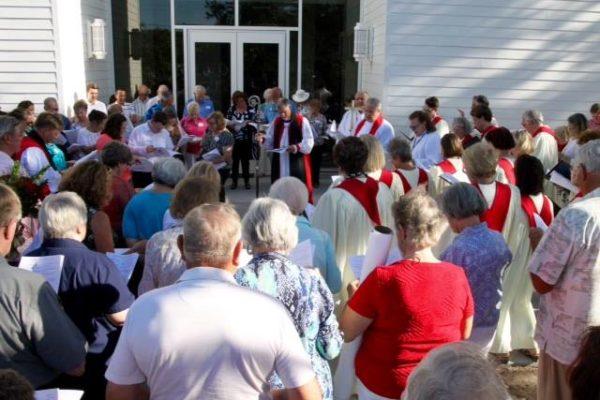 Outside Ministry Center Main Enterance