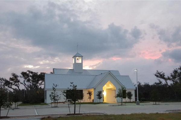 Ministry Center at Dusk